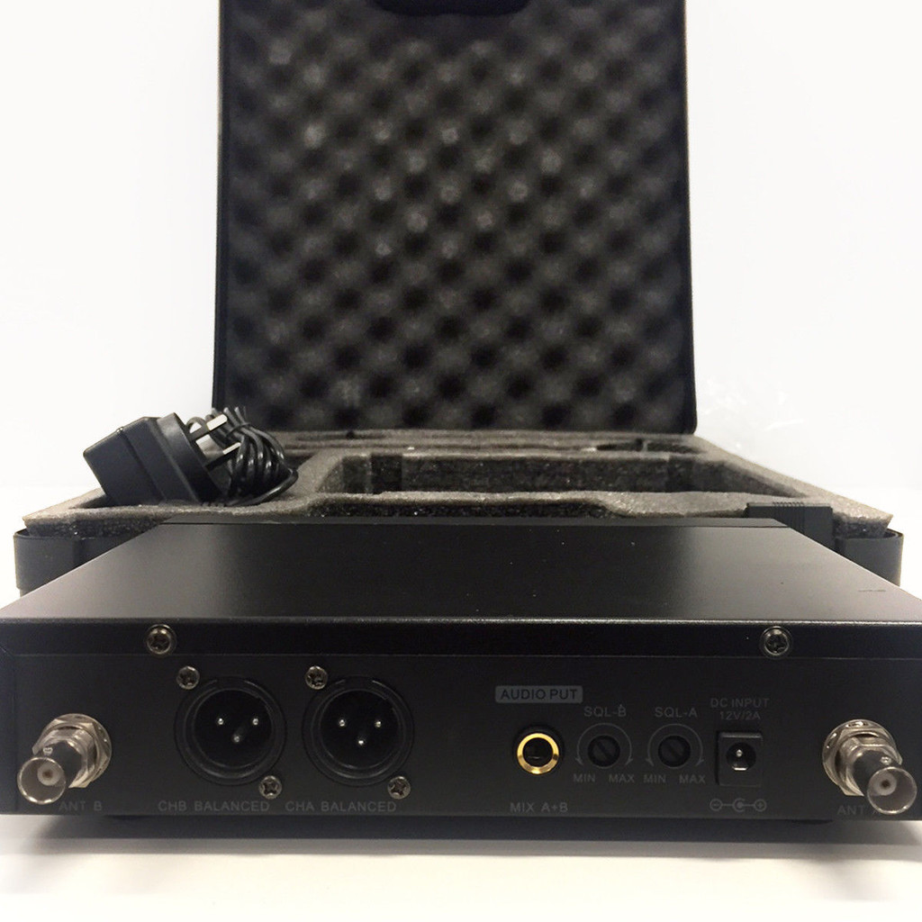 ABEL TWIN MICROPHONE UHF DUAL CHANNEL USB RECHARGEABLE MIC CASE