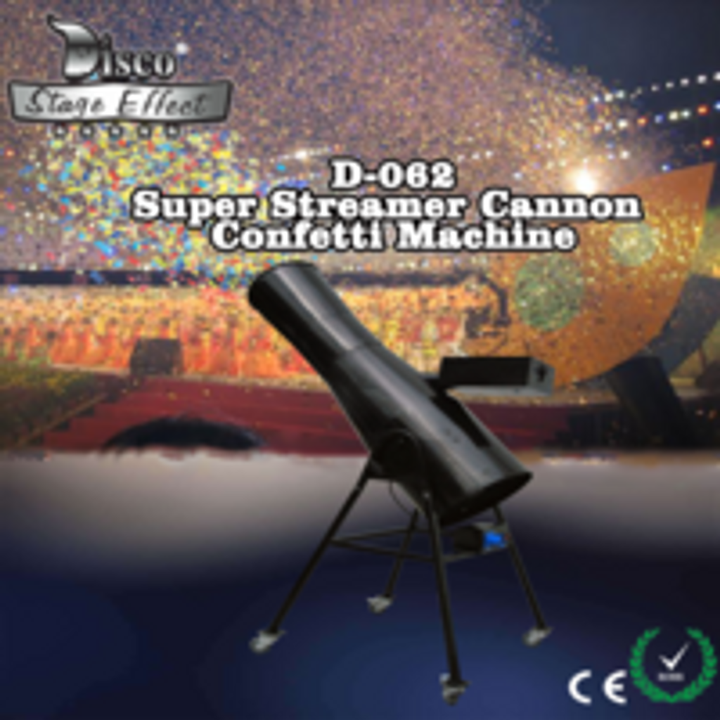 M.O.S Super Streamer Cannon Confetti Machine With Flight Case
