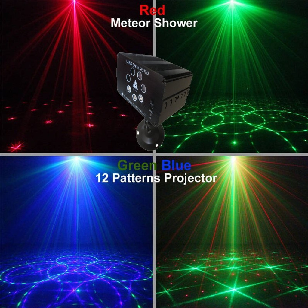 Shezam M.O.S Laser 190MW RED GREEN Laser,  LED Blue