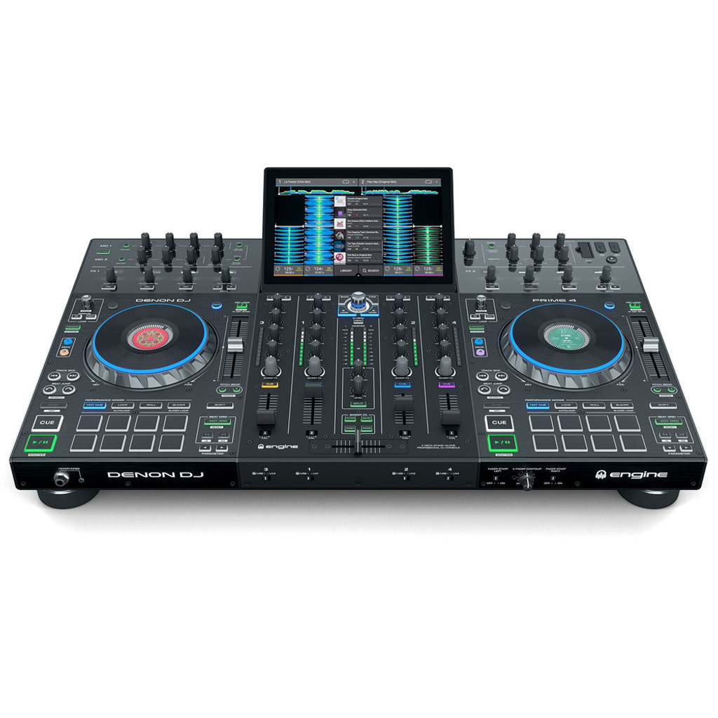 Denon DJ Prime 4 Standalone 4-Channel DJ System with 10 Inch Screen