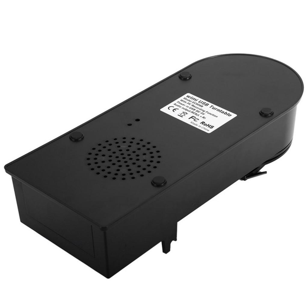 Mini USB Vinyl Turntable - Audio Player, Convert LP To MP3, 33 + 45 RPM, RCA Output, Windows + Mac