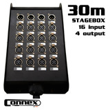 AVE Connex Multicore-2030 16 In  4 Out Multicore with Stage Box 30m
