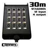 AVE Connex Multicore-1630 12 In  4 Out Multicore with Stage Box 30m