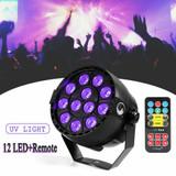MOS Black Knight 12 LED Black Light UV Par Stage Lighting DMX DJ  Remote