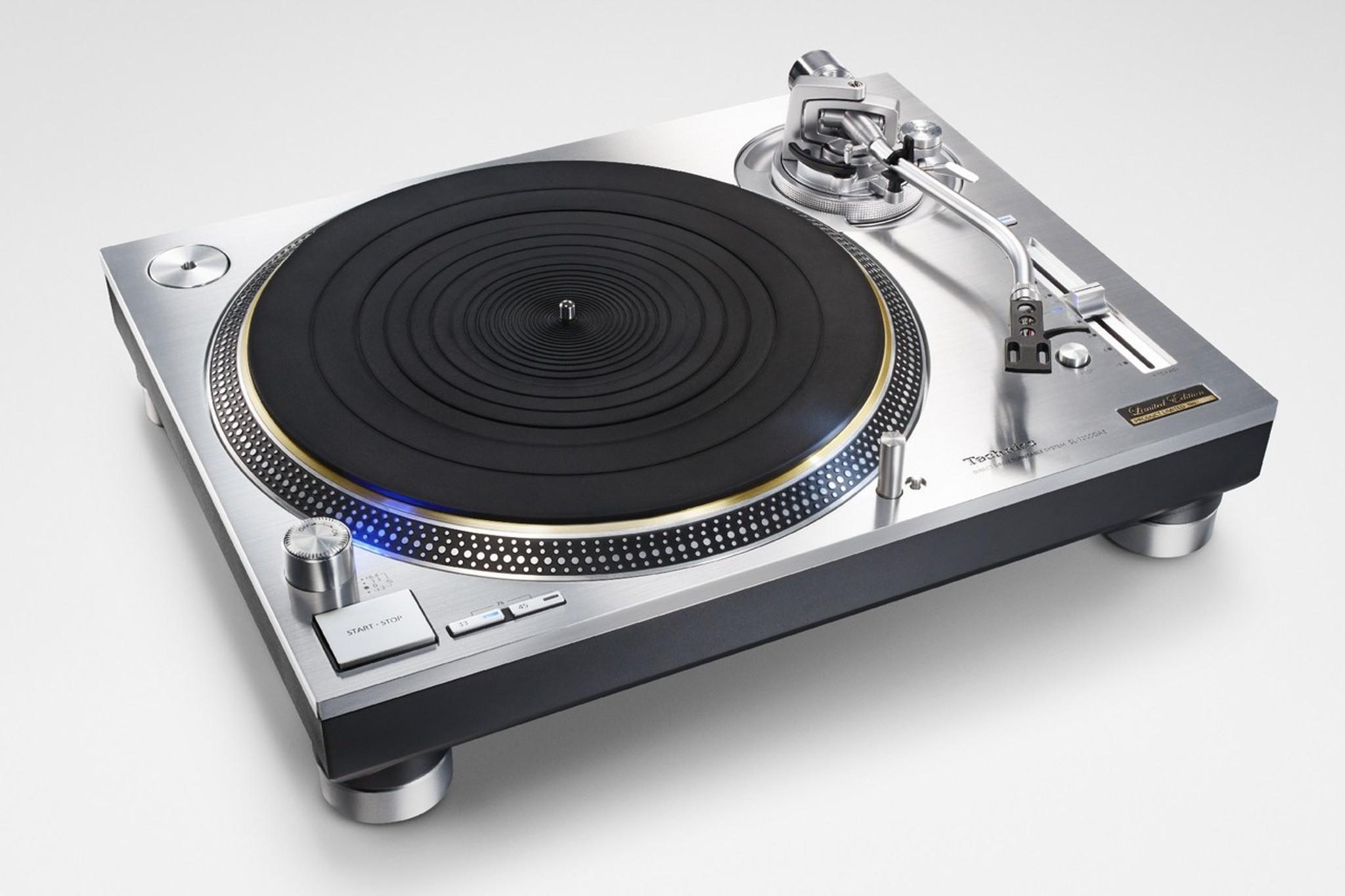 technics sl 1200mk2 silver dj turntable