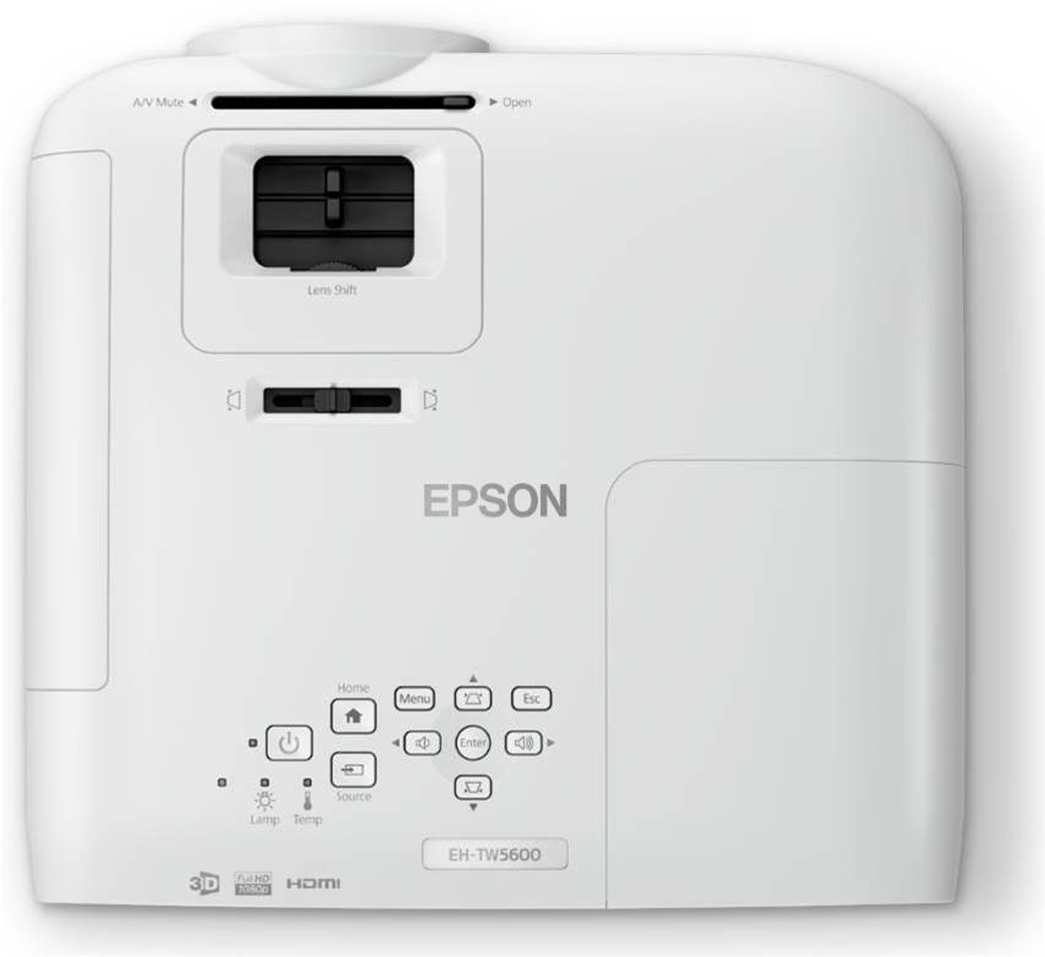 Epson EH-TW5600 Full HD Home Theatre projector with high contrast