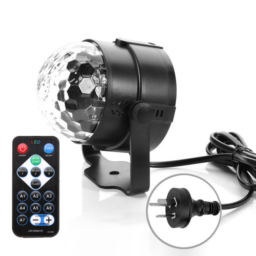 RGB LED Stage Light Disco Home Party Crystal Magic Ball Effect Lamp With Remote