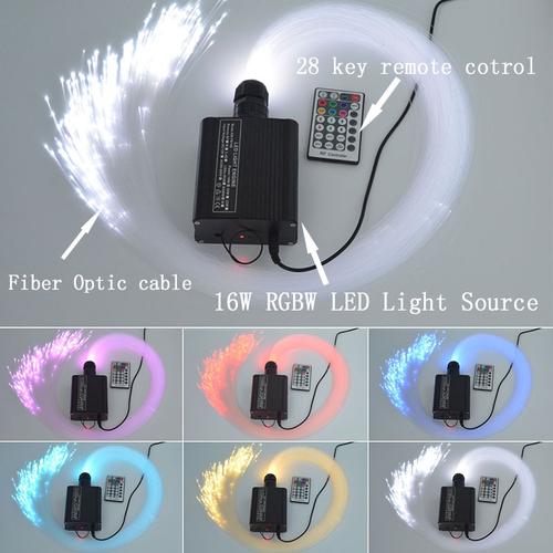 DMX 75W RGB 28key remote LED Fiber Optic  star ceiling kit light 1000pcs 5m 0.75mm for star sky ceiling
