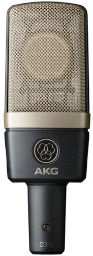 AKG C314 PROFESSIONAL MULTI-PATTERN STUDIO CONDENSER MICROPHONE