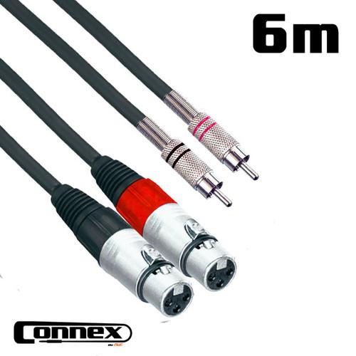 AVE Connex XFRC-6T Twin Audio Cable 6m