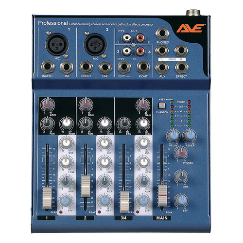 AVE Strike4 PA Mixer with Delay FX