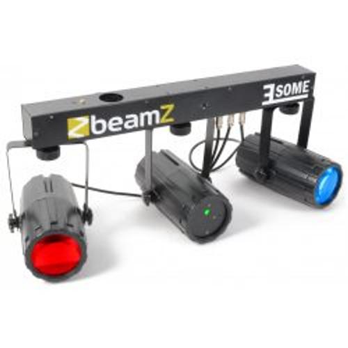 Beamz 3Some-Laser LED DJ Light Effect 3-Set with Laser