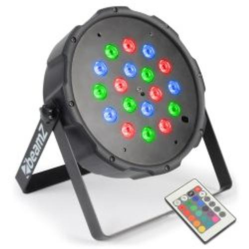 Beamz Flatpar 1Wx18 LED Tri-Colour Par Can