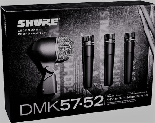 Shure DMK57-52 Drum Microphone Mic Kit Full Warranty SM57s Beta 52A & Case