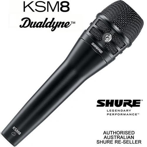 Shure KSM8 Dualdyne Cardioid Vocal Microphone  (Black)