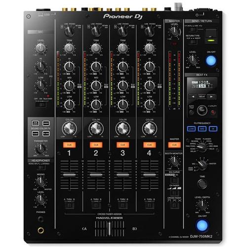Pioneer DJM-750MK2 4-Channel DJ Mixer w/ Club DNA (Black)