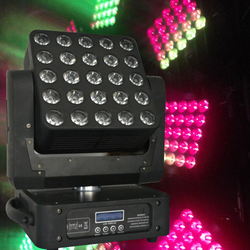 Crane RGBW 4in1 cree LED 5x5 15W Matrix beam moving head Prog Function (Text, alphabet, Numbers)