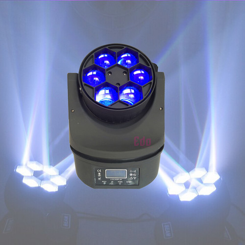 Hawkeye Bee Eye Light Led Beam Moving Head 6 x 15 Watt Lights RGBW Mini