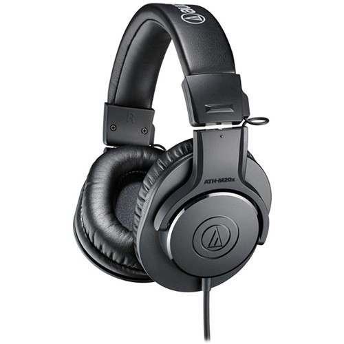 Audio Technica ATH M20x Entry Level Monitoring Headphones (Black)