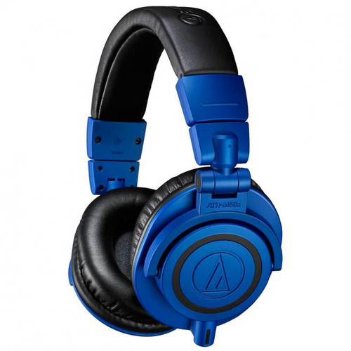 Audio-Technica ATH-M50X Professional Studio Headphones, Blue LE