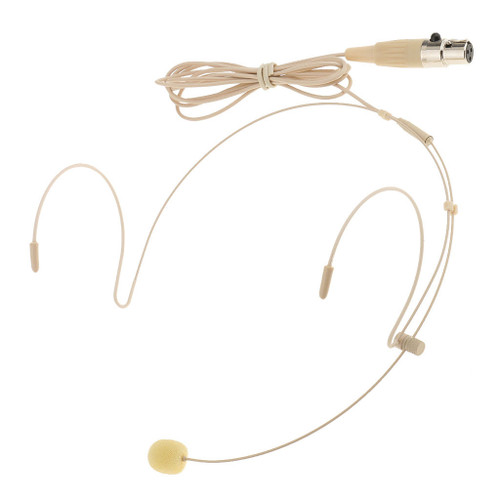 MOS Headset Microphone Beige Double Earhook 3Pin Mini XLR Transmitter