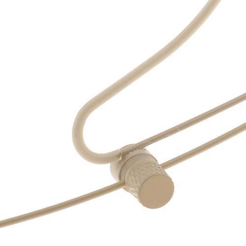 MOS Headset Microphone Beige Double Earhook 4Pin Mini XLR Transmitter