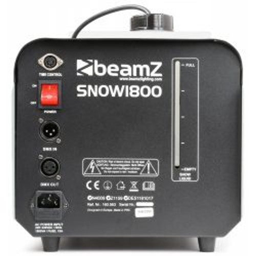 Beamz SNOW-1800 Snow Machine 1800W