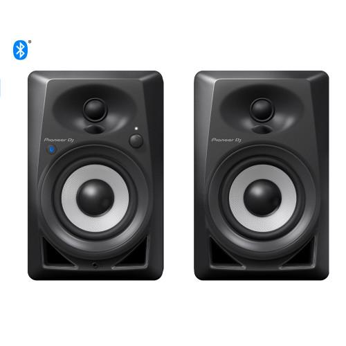 Pioneer DJ DM-40BT Black 4 Inch Monitor Pair Bluetooth
