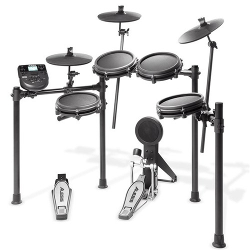 Alesis Nitro Mesh 5-Piece Mesh Electronic Drum Kit w Nitro Drum Module & 3 Cymbals