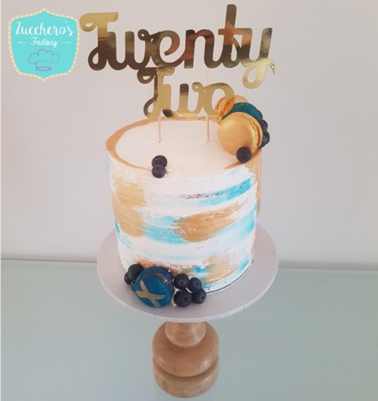 Astounding 22Nd Birthday Cakes Zuccheros Birthday Cards Printable Trancafe Filternl