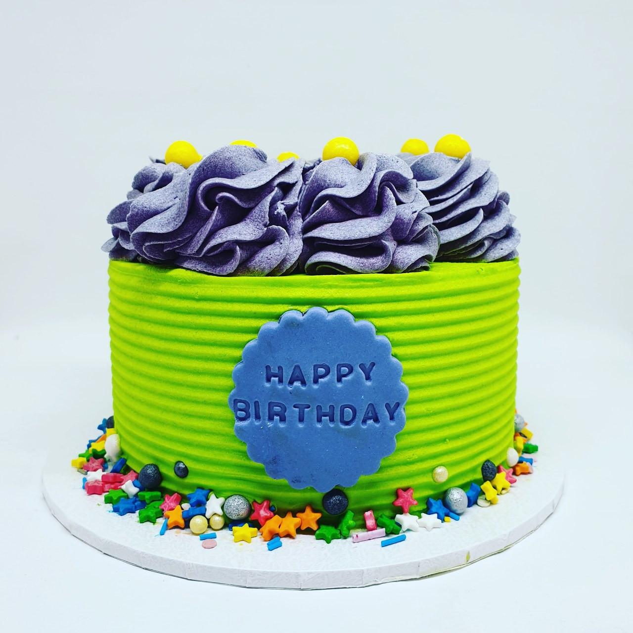 Astounding Green Calypso Cake Birthday Cards Printable Benkemecafe Filternl