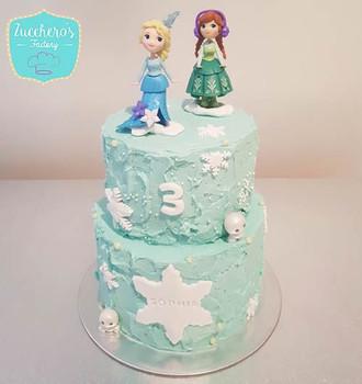 Two Tier Frozen Cake