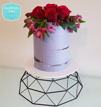 Double Barrel Semi Naked Cake