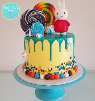 Custom Miffy Cake