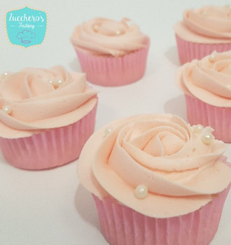 Light Pink Rosette Cupcakes