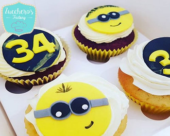 Minions Birthday Cupcakes