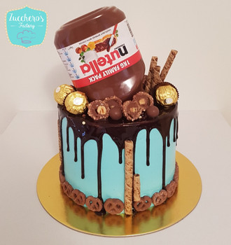 Customized Nutella Drip Cake