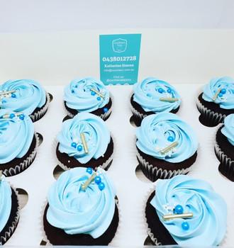Blue Icing Reg Cupcakes