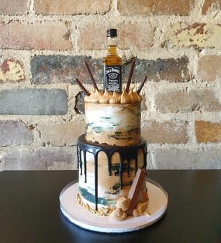 Jack Daniel Two Tier Cake