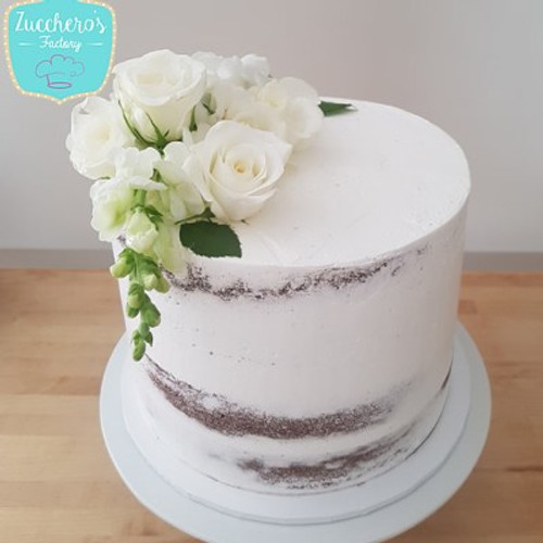 Christening Vanilla Naked Cakes