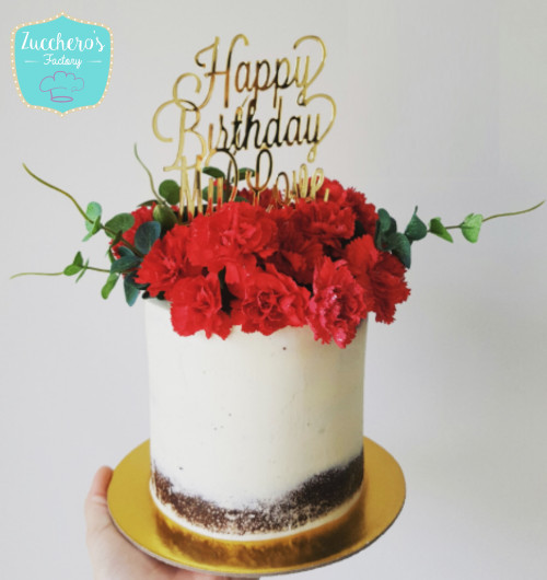 Floral 30th Birthday Cakes