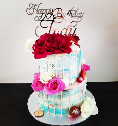 Two Tier Gourmet Floral Cake