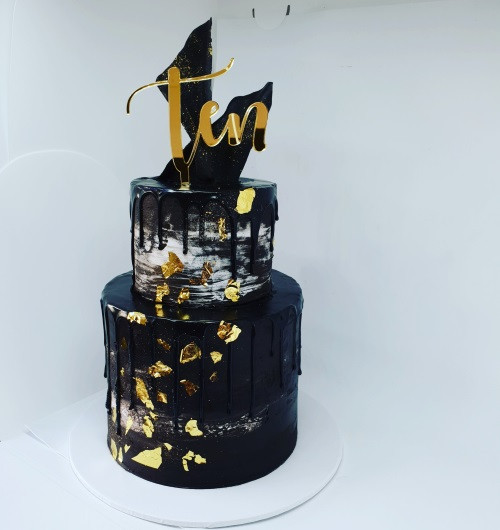 Two Tier Corporate Cake