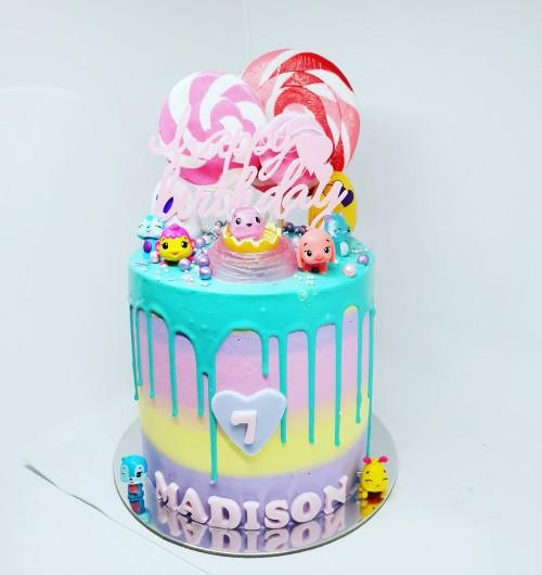 Hatchimal Drip Cake