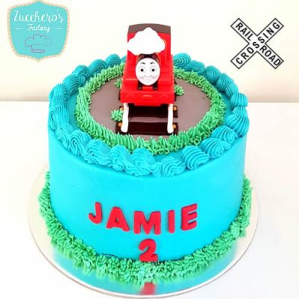 Buttercream Thomas The Train Cake