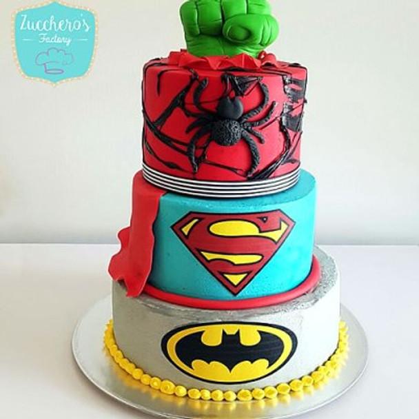 Buttercream Superhero Cake