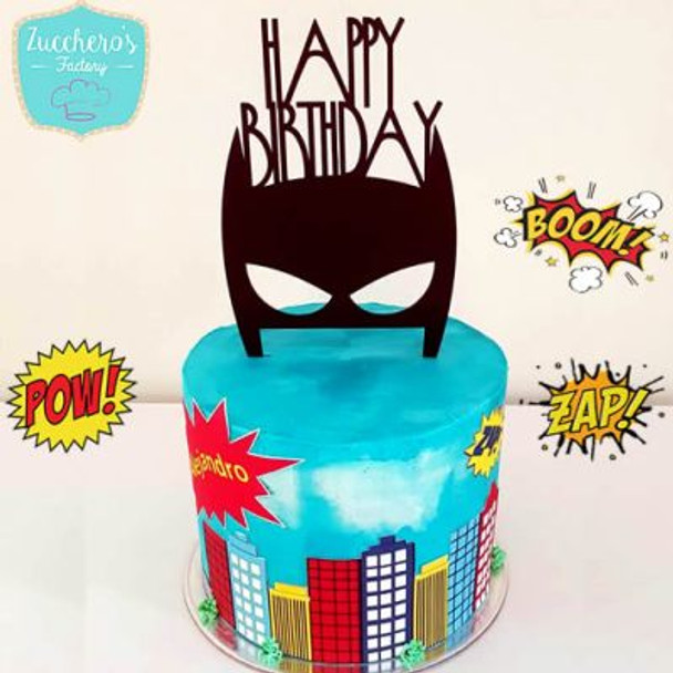 Batman Cake  & City .  Cake Topper Included