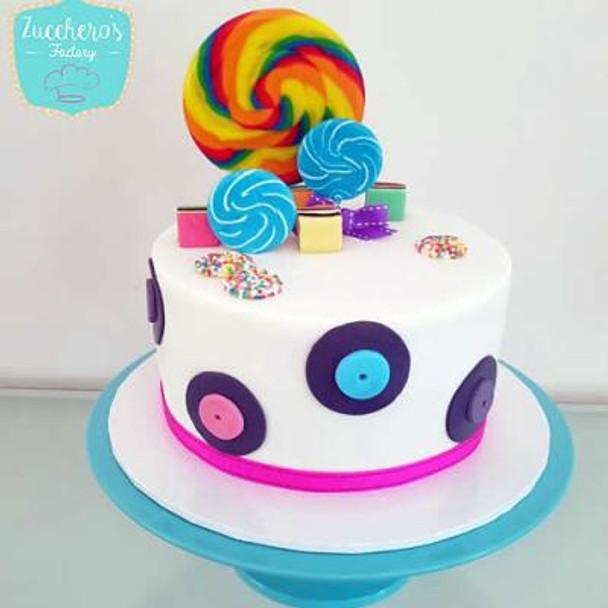 Disco Party Buttercream Cake