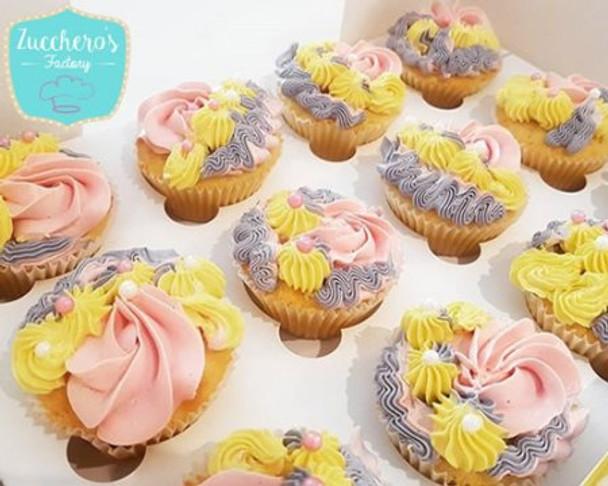 Fancy Rainbow Cupcakes