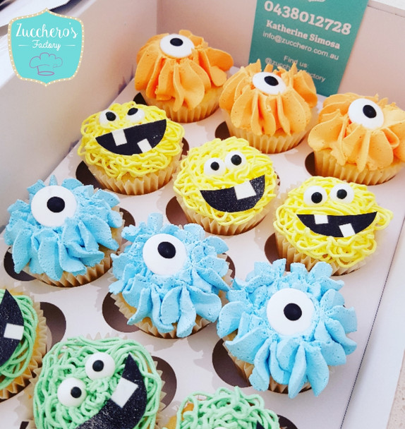Customized Monster Cupcakes